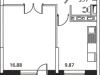 """Схема квартиры в проекте """"Микрорайон на Стрелковой""""- #818265613"""