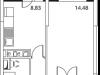 """Схема квартиры в проекте """"Микрорайон на Стрелковой""""- #847190822"""