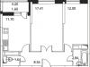 """Схема квартиры в проекте """"Микрорайон на Стрелковой""""- #183548536"""