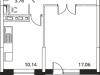 """Схема квартиры в проекте """"Микрорайон на Стрелковой""""- #1071009418"""