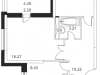 """Схема квартиры в проекте """"Микрорайон на Стрелковой""""- #306505318"""