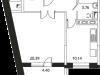 """Схема квартиры в проекте """"Микрорайон на Стрелковой""""- #60156834"""