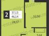 "Схема квартиры в проекте ""Отрада-апарт""- #313387206"