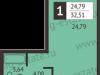 "Схема квартиры в проекте ""Отрада-апарт""- #933656896"