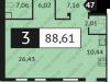"Схема квартиры в проекте ""Отрада""- #315381216"