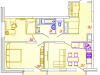 """Схема квартиры в проекте """"Отрадный""""- #1628778978"""