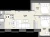 """Схема квартиры в проекте """"Парк Мира""""- #1836615364"""