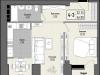 """Схема квартиры в проекте """"Парк Мира""""- #1686985570"""