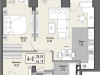 """Схема квартиры в проекте """"Парк Мира""""- #990611308"""