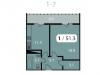 """Схема квартиры в проекте """"Парк на Фабричной""""- #2135645517"""