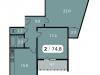 """Схема квартиры в проекте """"Парк на Фабричной""""- #234173340"""