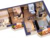 """Схема квартиры в проекте """"Парковый""""- #1165085215"""