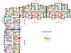 """Схема квартиры в проекте """"Парковый""""- #8951404"""