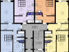 "Схема квартиры в проекте ""Паруса""- #505366771"