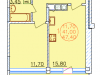 "Схема квартиры в проекте ""Патио Парк""- #697673545"