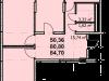 """Схема квартиры в проекте """"Пегас""""- #1661752417"""