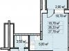 """Схема квартиры в проекте """"Пегас""""- #1350248864"""