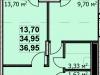 """Схема квартиры в проекте """"Пегас""""- #41670822"""