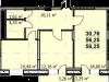 """Схема квартиры в проекте """"Пегас""""- #2080612048"""