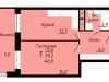 """Схема квартиры в проекте """"Пионер""""- #1931535497"""