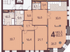 """Схема квартиры в проекте """"Плотников""""- #304953993"""