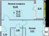 "Схема квартиры в проекте ""Победа""- #1869109300"