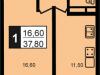 "Схема квартиры в проекте ""Прима Парк""- #93004877"