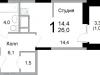 "Схема квартиры в проекте ""Прима Парк""- #1779806329"