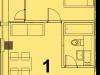 """Схема квартиры в проекте """"Red Loft (Ред Лофт)""""- #2054211171"""