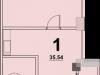 """Схема квартиры в проекте """"Red Loft (Ред Лофт)""""- #1703005843"""