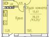 """Схема квартиры в проекте """"Респект""""- #1808894691"""