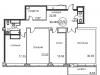 """Схема квартиры в проекте """"Royal House on Yauza (Рояль Хаус на Яузе)""""- #2144468087"""
