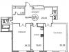 """Схема квартиры в проекте """"Royal House on Yauza (Рояль Хаус на Яузе)""""- #1163161009"""