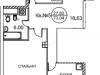 """Схема квартиры в проекте """"Royal House on Yauza (Рояль Хаус на Яузе)""""- #2128717761"""