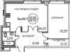 """Схема квартиры в проекте """"Royal House on Yauza (Рояль Хаус на Яузе)""""- #193288964"""