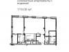 """Схема квартиры в проекте """"RozaRossa (РозаРосса)""""- #1190788950"""