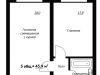 "Схема квартиры в проекте ""Рутаун""- #1287700745"