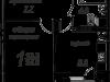 """Схема квартиры в проекте """"Рябиновые аллеи""""- #1479111762"""