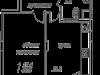"""Схема квартиры в проекте """"Рябиновые аллеи""""- #1300505873"""
