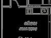 """Схема квартиры в проекте """"Рябиновые аллеи""""- #2093393941"""