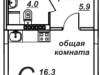 """Схема квартиры в проекте """"Рябиновые аллеи""""- #880475936"""