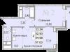 """Схема квартиры в проекте """"Санрайс (Воскресенский парк)""""- #834775524"""