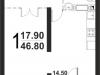 "Схема квартиры в проекте ""Серебро""- #1393918463"