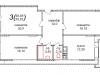 "Схема квартиры в проекте ""Шустовъ-Парк (Шахматово-Парк)""- #958189397"