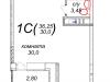 "Схема квартиры в проекте ""Шустовъ-Парк (Шахматово-Парк)""- #2134101037"
