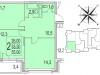 """Схема квартиры в проекте """"Сказка""""- #1294676246"""