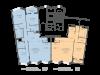 """Схема квартиры в проекте """"Сколково Парк""""- #1901428729"""