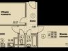 """Схема квартиры в проекте """"Солнечная аллея""""- #376749800"""