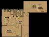 """Схема квартиры в проекте """"Солнечная аллея""""- #186746622"""