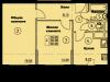 """Схема квартиры в проекте """"Солнечная аллея""""- #1295062821"""